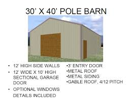 Barn Building Plans 30 U0027x60 U2032 Pole Barn Blueprint Pole Barn Plans