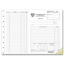 carbonless job invoice forms free shipping