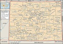 Can You Show Me A Map Of The United States State And County Maps Of Colorado