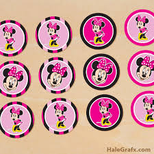 printable minnie mouse cupcake toppers