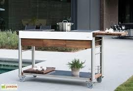 cuisine d ext駻ieur cuisine d extérieur modulable bois et inox serveboy ultimo indu