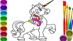 how to draw unicorn coloring pages for kids learn drawing art