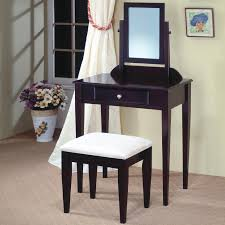 Narrow Vanity Table Bedroom Narrow Black Bedroom Makeup Vanity Table With Spinning