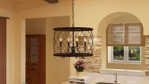 laurel foundry modern farmhouse gabriel 4 light drum pendant