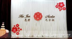 wedding backdrop kl wedding decoration at sjk c chung kwo kl