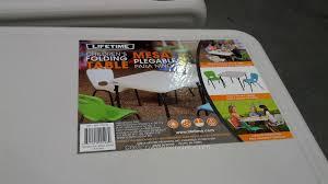 lifetime childrens folding table lifetime children 039 s folding table costco weekender kids table