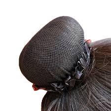 solid black hair clip snood hairnet