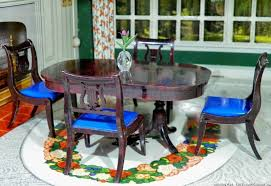 Dollhouse Dining Room Furniture Renwal Beautiful Dining Room Set 5 Pc Vintage Dollhouse Furniture