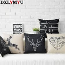 taie d oreiller pour canapé coussin pour canapé perroquet hibou cerf motif géométrique taie d