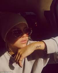 sofia richie reveals new u0027loyalty u0027 tattoo on snapchat daily mail