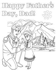 frozen fathers day coloring page h u0026 m coloring pages