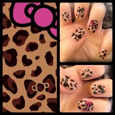 hello kitty leopard nail art bsugarcoated
