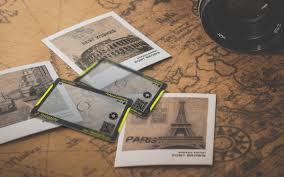 transparent business card design for photographer vadio rocks