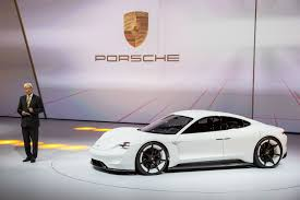 electric porsche supercar porsche mission e to spawn other electric variants from automaker