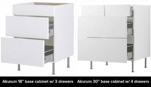 15 inch 4 drawer base cabinet ikea s akurum vs sektion cabinets what s the difference kitchn