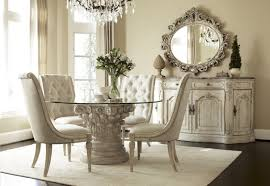 Glass Top Dining Room Table And Chairs by Small Formal Dining Room Wood Trellis Backrest Round Glass Top
