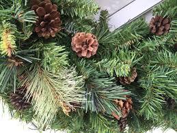 white pine cone pinecone with pine u0026 cedar greens winter wreath wreaths by julie