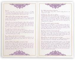 wording on wedding programs3 cords wedding ceremony karathee hoom wedding ceremony programs documents and designs