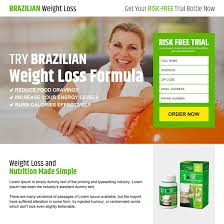 brazilian weight loss risk free product trial responsive landing