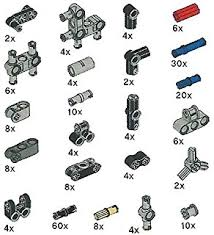 technic pieces amazon com technic 60 piece gear wheel axle and stopper set