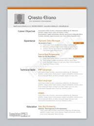 Simple Word Resume Template Free Resume Template Downloads For Word Resume Template And