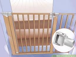 Baby Gate For Stairs With Banister And Wall 3 Ways To Put Up A Baby Gate Wikihow