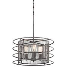 Kichler Lighting Com by Shop Kichler Ramida 18 12 In Antique Steel Industrial Single Drum