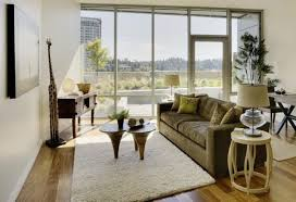 furniture outstanding apartment wit clear glass windows and