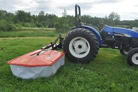 mainely ewes farm our new kuhn drum mower pz170