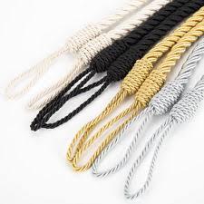 Rope Curtain Tie Back Rope Tiebacks Window Treatment Hardware Ebay