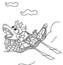 fox racing coloring pages dragon boat race in chinese symbols coloring page netart