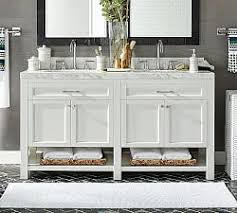 Pottery Barn Bathroom Ideas Magnificent Bathroom Vanity Two Sinks On With Sink In