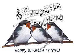singing birthday printable clip three birds singing happy birthday original