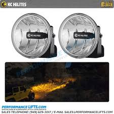 led fog light kit kc hilites universal mount gravity led fog light kit amber output