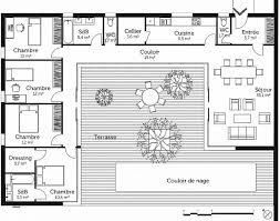 plan maison 3 chambres plain pied chambre plan maison bois plain pied 4 chambres awesome plan maison