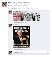 How To Post Memes In Comments On Facebook - facebook api posting a comment with photo web niraj
