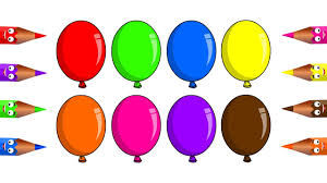 learn colors with balloon coloring pages for kids children babies