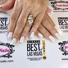 white pearl chrome nails yelp