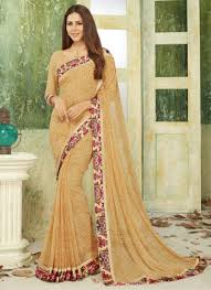 fancy casual casual wear saree with border