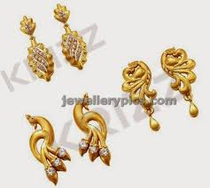 stylish gold earrings stylish daily wear gold earrings designs jewellery