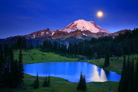 Washington mountains images Landscape download mountains moonlight desktop images night jpg