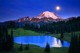 Landscape download mountains moonlight desktop images night