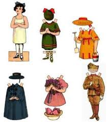 another free printable classic paperdoll template and pattern