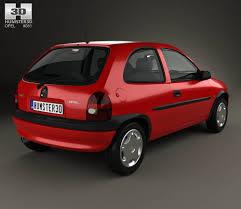 opel corsa opel corsa b 3 door hatchback 1998 3d model hum3d