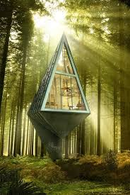 modern eco friendly homes set amongst the trees