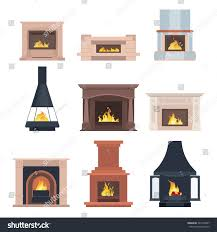 Images Of Home Interior Collection Home Different Fireplaces Paste Interior Stock Vector