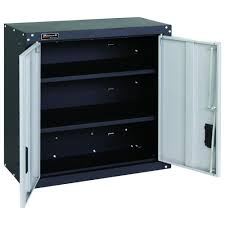 Garage Wall Cabinets Home Depot by Homak Garage Series 27 In 2 Door Wall Cabinet With 2 Shelves In
