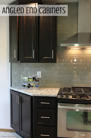 Kitchen Cabinets Per Linear Foot Angled End Cabinets Villagehomestores Com Interiors