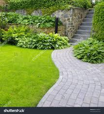 Garden Stone Ideas by Fantastic Backyard With Rock Garden Ideas Also Hanging Flowers