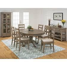 dining room decorating ideas using patterned light blue rug under